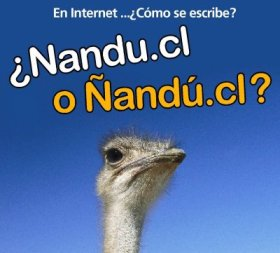 En Internet... cmo se escribe? nandu.cl o and.cl?